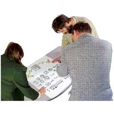 people sitting around the table working through NDIS plan