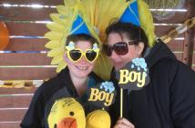 Ashleigh and Brigitte at Ashleigh's baby shower