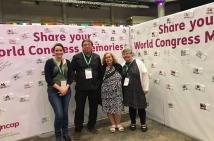 Zoe, Kevin and Heather from VALID and Judy Huett from Speak Out Tasmania