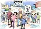 cartoon of people attending VALID Our Choice Expo