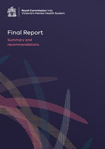 photo of cover of the Final Report of the Victorian Royal Commission into Mental Health