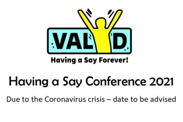Having a Say conference 2021 date to be advised
